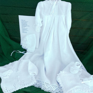 Grace Heirloom Baptismal Gown and assessories