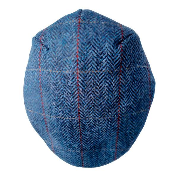 Cap blue herringbone