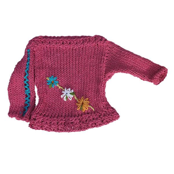 Lucy Lou sweater cerise